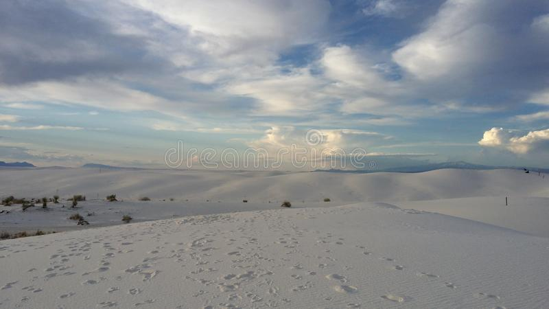 Le blanc sable le monument national photos stock
