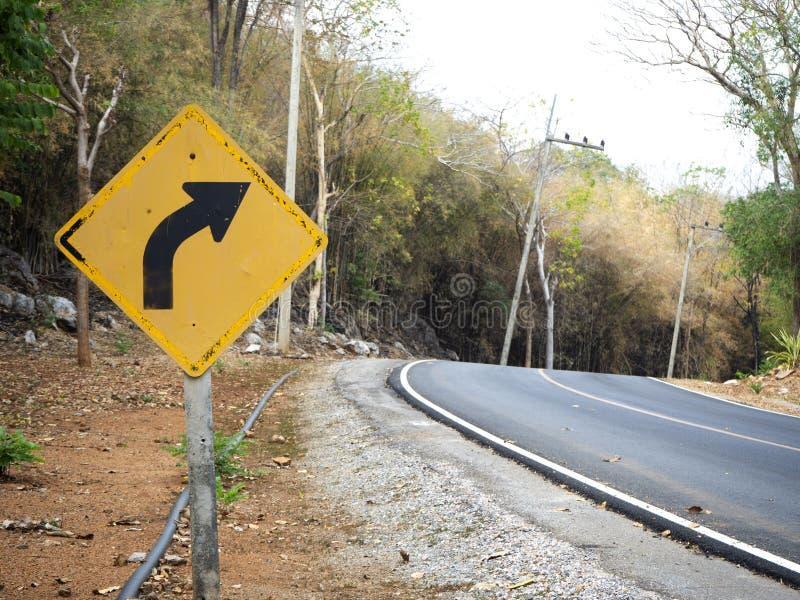 Le blanc signent dedans les routes rurales en Thaïlande photographie stock