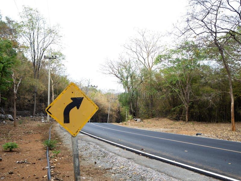 Le blanc signent dedans les routes rurales en Thaïlande photos libres de droits