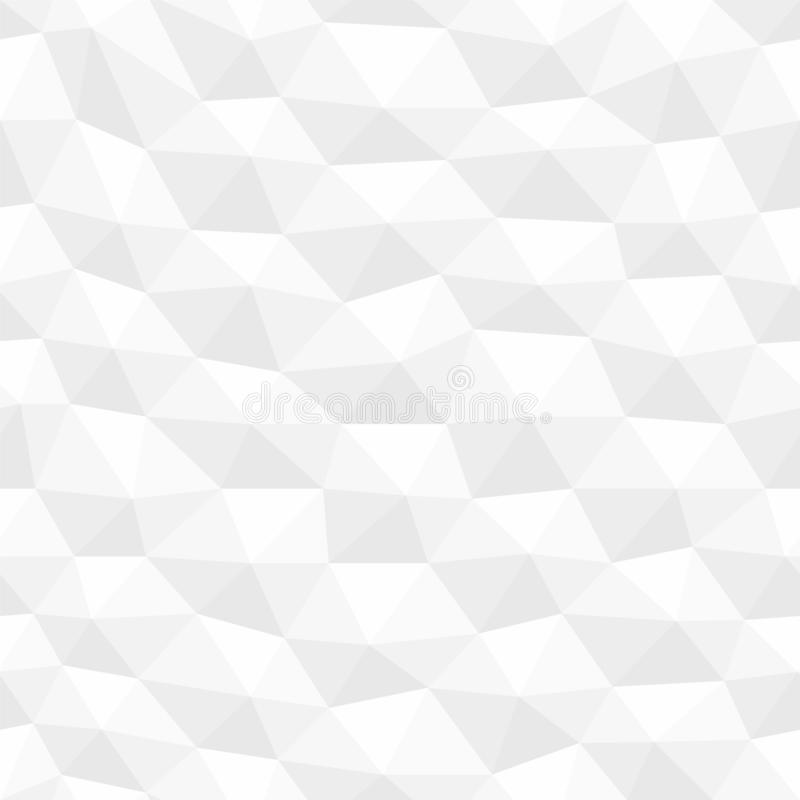 Le blanc a tordu la texture hexagonale sans couture Modèle géométrique décoratif de polygones Fond 3d abstrait illustration libre de droits