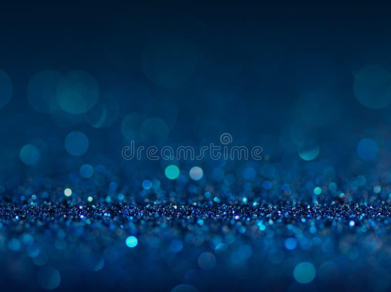 Le bleu abstrait Defocused allume le fond Lumières de Bokeh photo stock