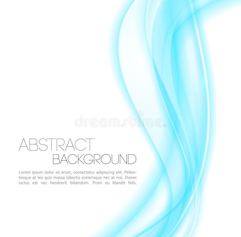Le bleu abstrait incurvé raye le fond descripteur illustration de vecteur