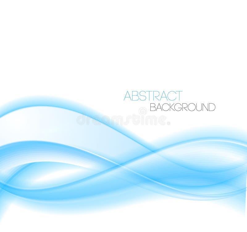 Le bleu abstrait incurvé raye le fond onde illustration libre de droits