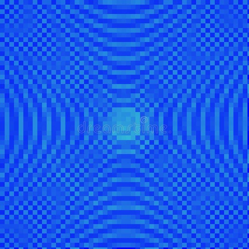 Le bleu abstrait ombrage le fond de mosaïque images stock