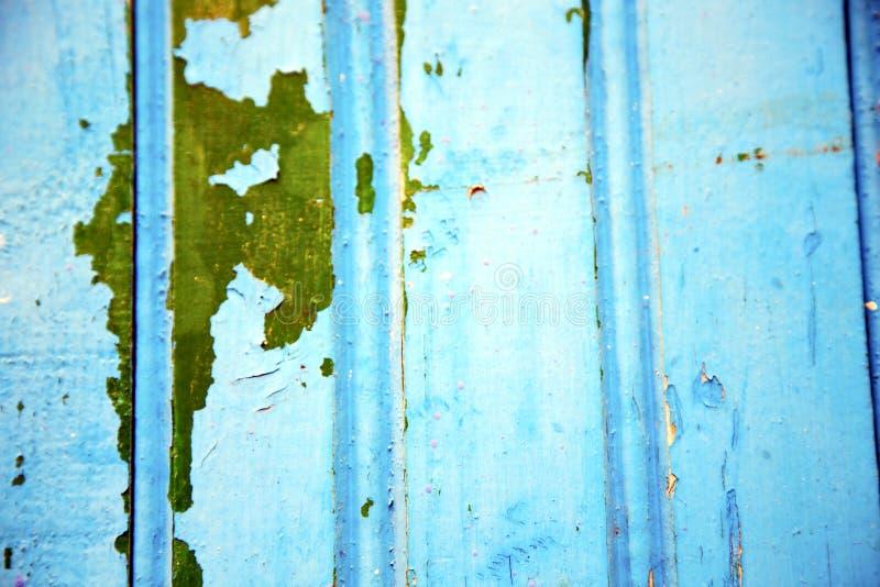 le bleu articule le Maroc rouillé en vert de l'Afrique image stock