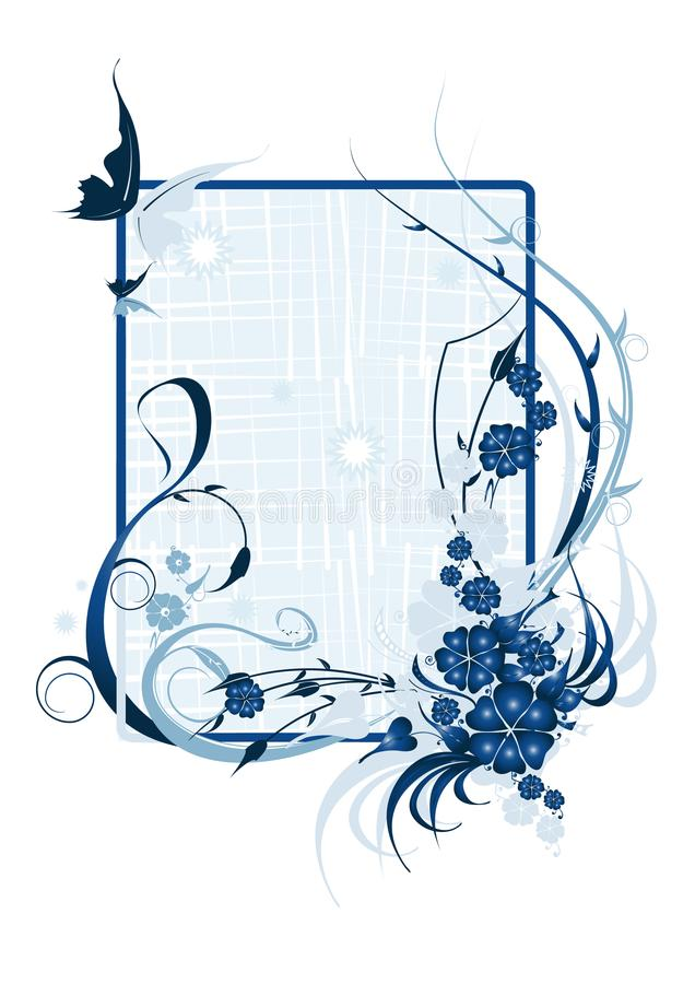 le bleu de fond fleurit le vecteur d'illustration photos stock