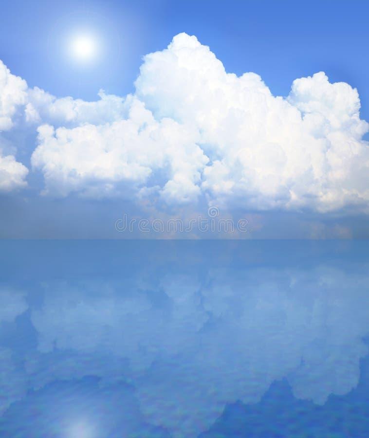 le bleu de fond opacifie le blanc de ciel illustration stock