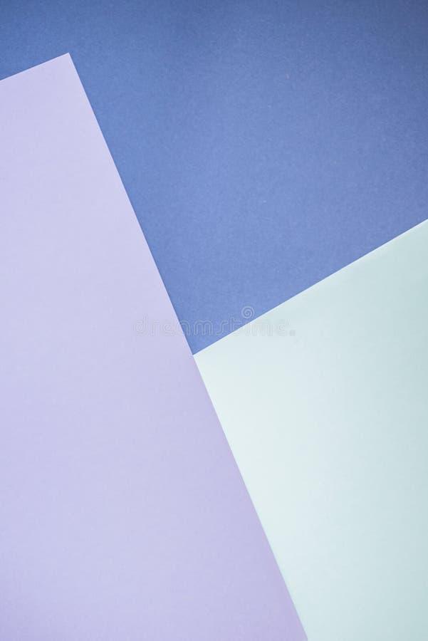 Le bleu et le lavander colorent le fond de papier et abstrait photos stock