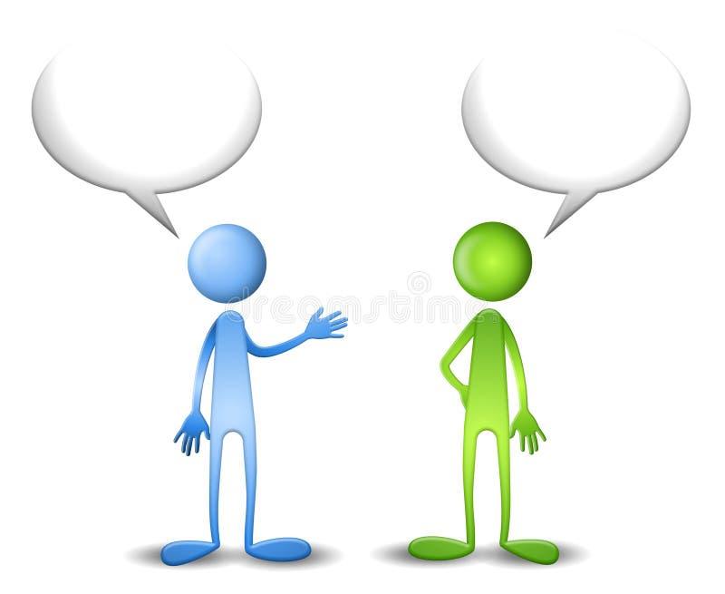 Le bleu et le vert ont un entretien illustration de vecteur