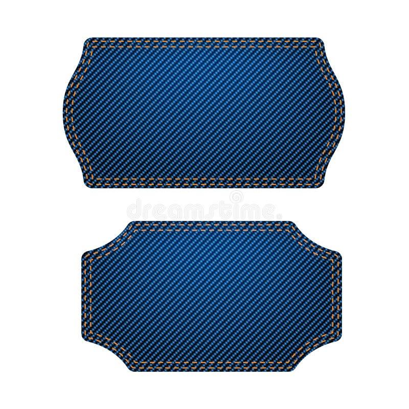 Le bleu marque le grand ensemble illustration stock