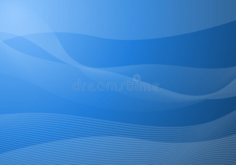 Le bleu ondule le fond illustration stock