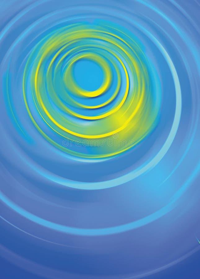 Le bleu ondule le fond digital illustration libre de droits