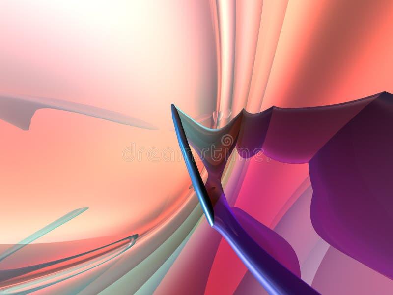 le bleu pourpré de rose de la pêche 3D rendent le fond illustration de vecteur