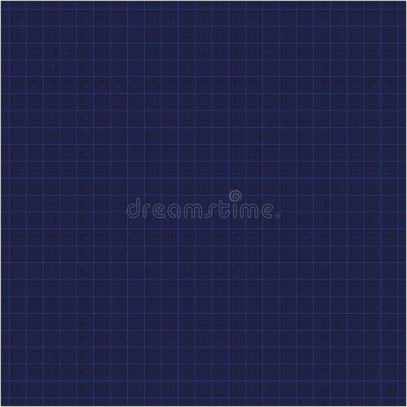Le bleu a quadrillé les places sans couture dirigent le modèle de texture de tissu de fond illustration libre de droits