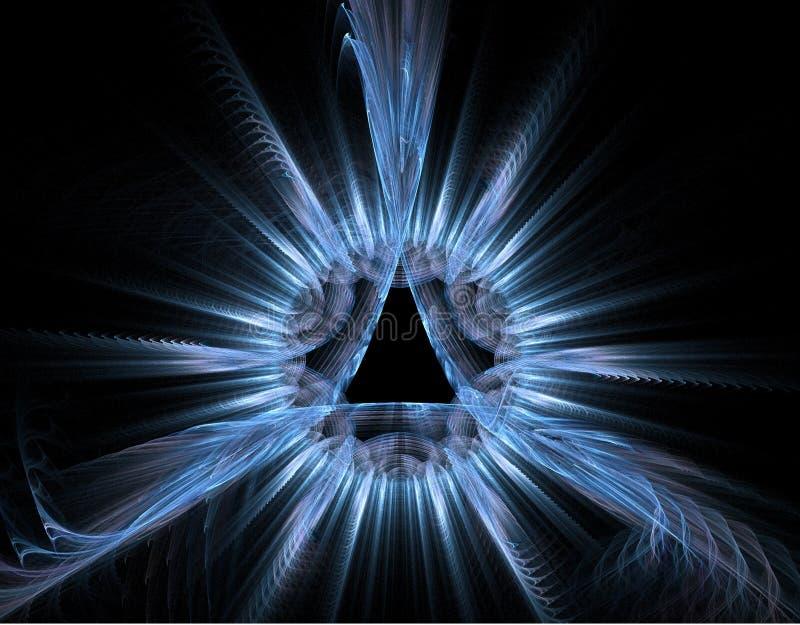 Le bleu rayonne la fractale - fond clair illustration de vecteur