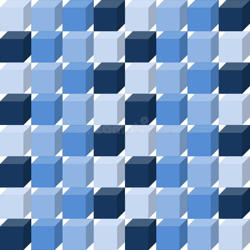Le bleu sans couture cube le fond illustration libre de droits