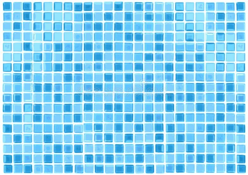 Le bleu sans joint de vecteur couvre de tuiles le fond illustration de vecteur