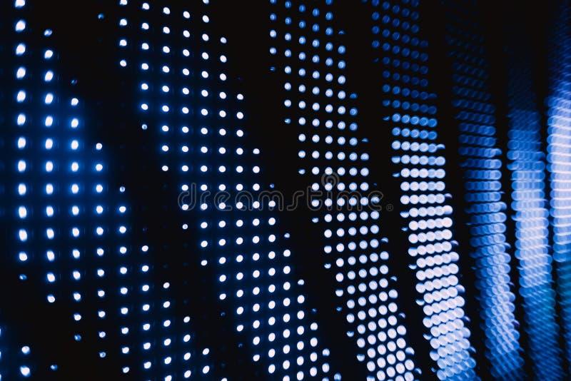 Le bleu tramé brouillé a mené des lumières image libre de droits