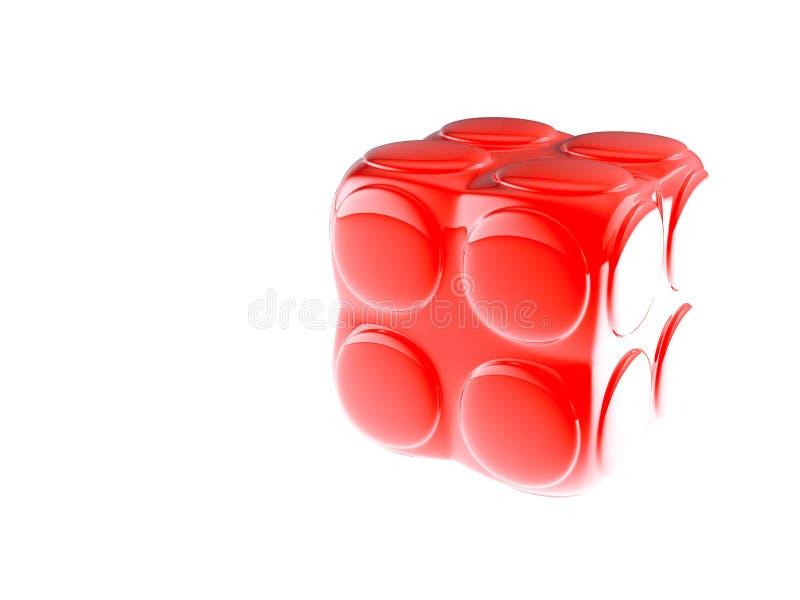 Le bloc de l'enfant rouge illustration de vecteur