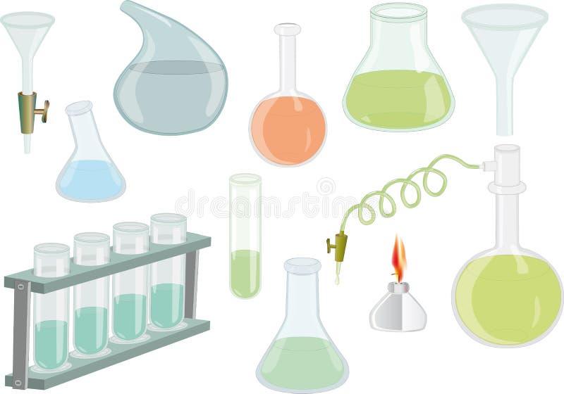 Le boccette chimiche per esplorano illustrazione di stock