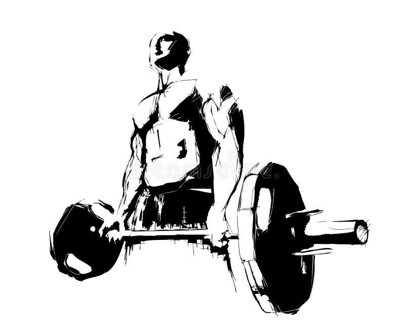 Le Bodybuilder illustration de vecteur