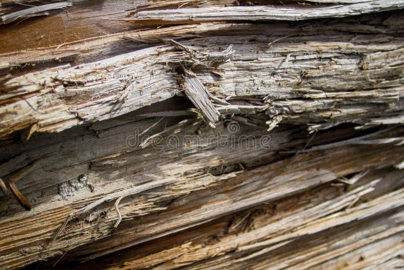 Le bois brisé semble déchiqueté et rugueux photographie stock