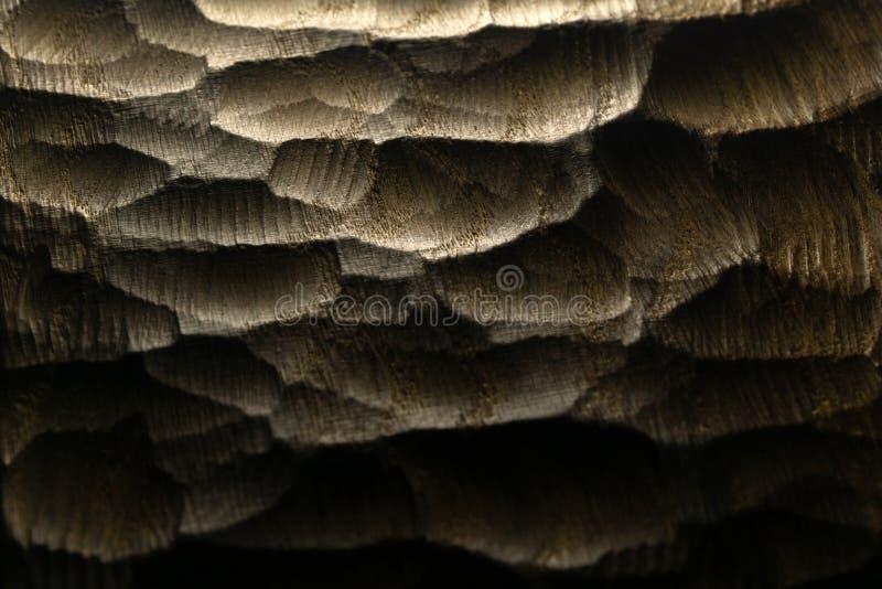 Le bois d?coup? ondule la texture, fond Surface en bois d?coup?e crue pour le fond abstrait Vagues r?tro-?clair?es en bois de mer images stock