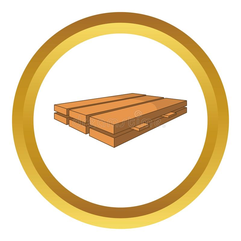 Le bois embarque l'icône illustration stock