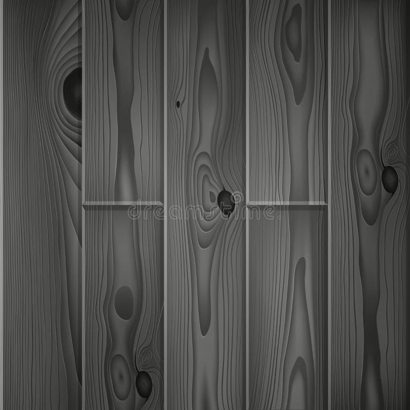 Le bois gris-foncé réaliste embarque la texture illustration stock