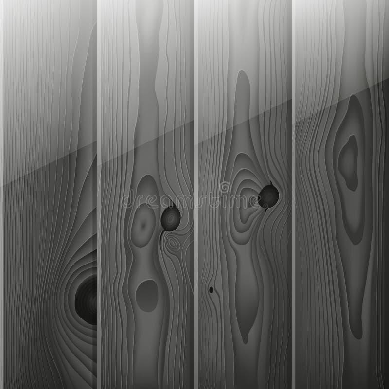 Le bois gris réaliste embarque la texture illustration libre de droits