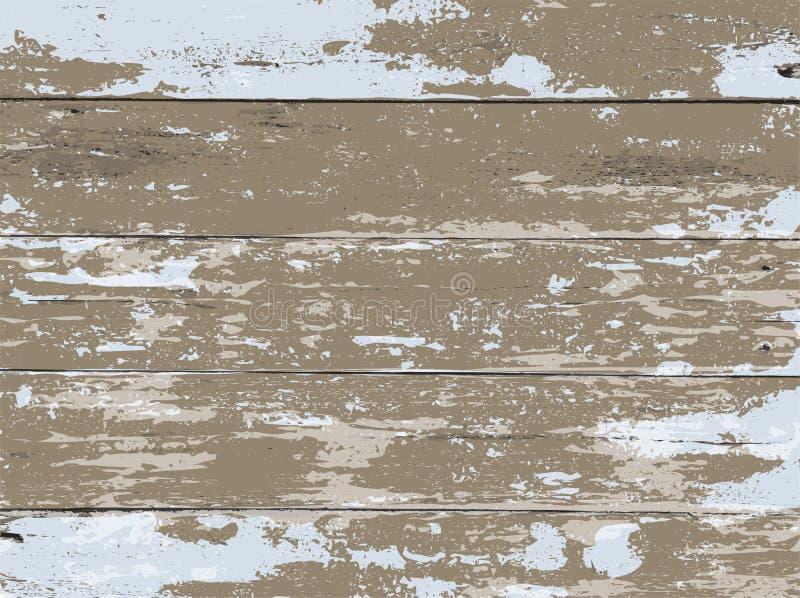 Le bois lavé par blanc embarque l'illustration de fond illustration stock