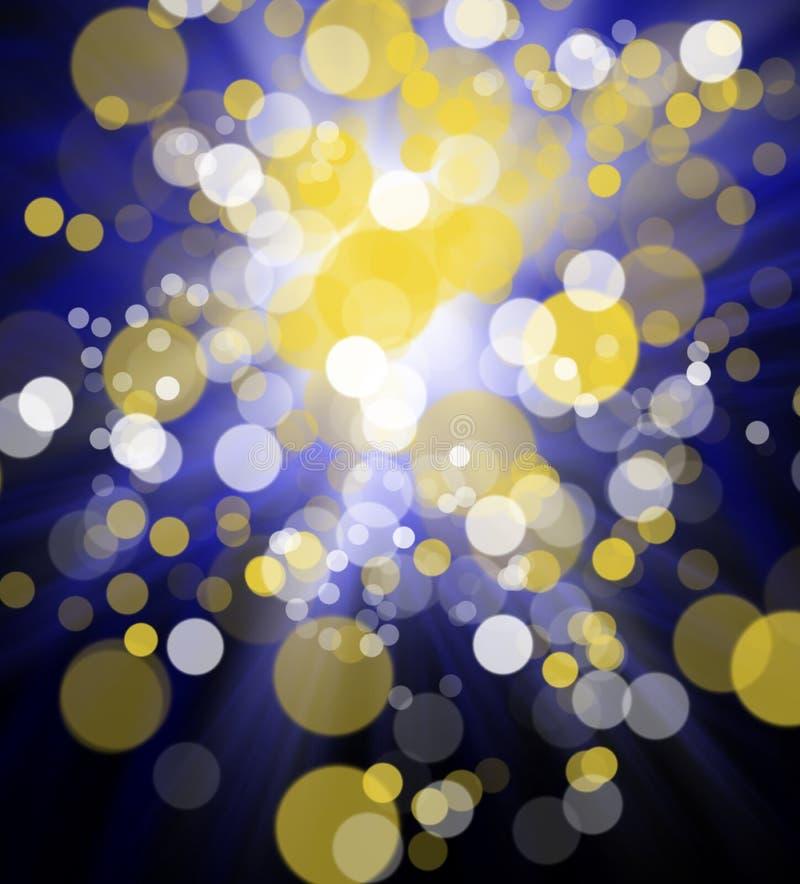 Le bokeh abstrait coloré lumineux entoure pour l'usage de fond illustration stock
