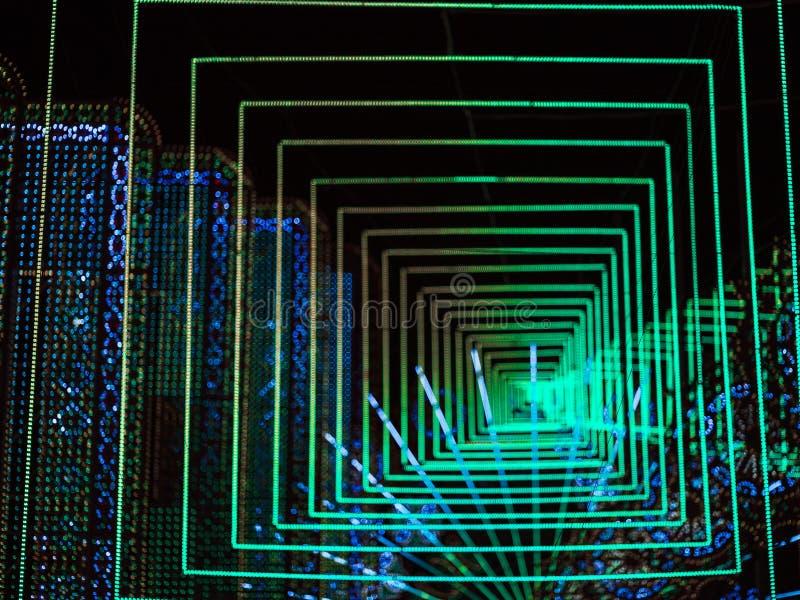 Le bokeh abstrait a mené 3d léger image libre de droits