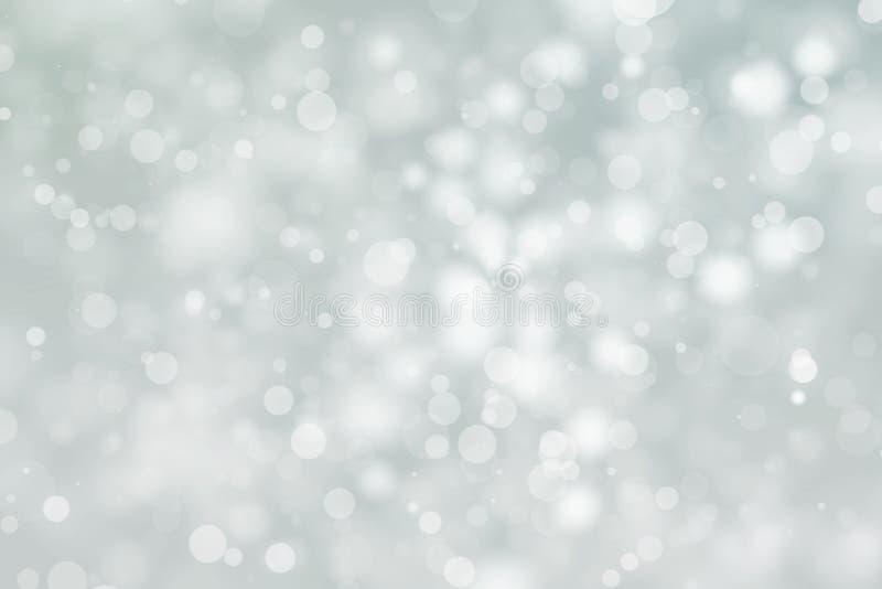 Le bokeh brillant brouillent le fond Vacances rougeoyantes de particules de cercle de scintillement images stock