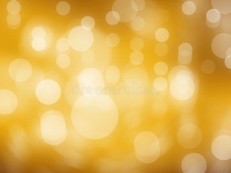 Le bokeh léger de fond entoure comme un ton jaune illustration stock