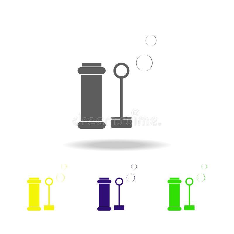 le bolle di sapone del giocattolo hanno colorato le icone Elemento dei giocattoli Può essere usato per il web, il logo, il app mo royalty illustrazione gratis