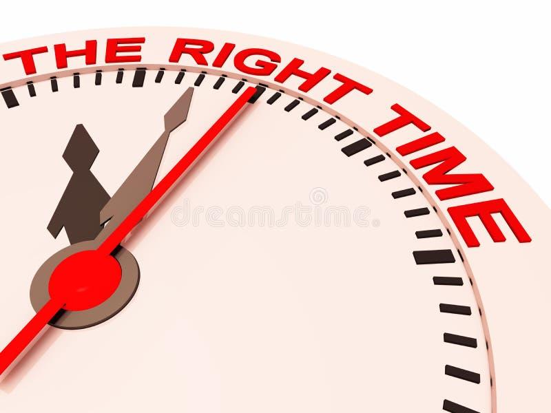 Le bon moment illustration libre de droits