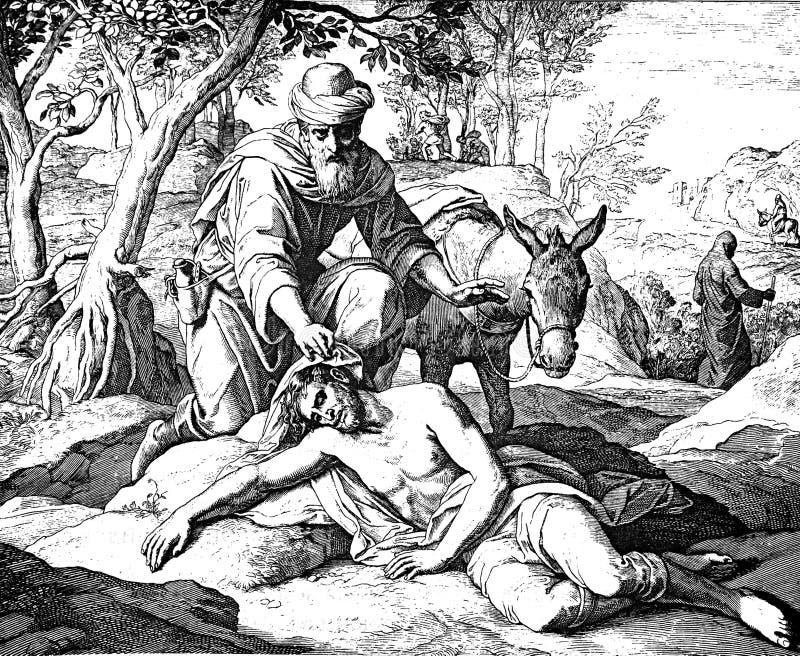 Le bon Samaritain image libre de droits