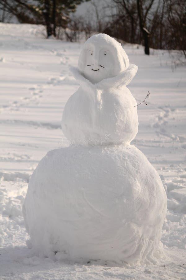 Le bonhomme de neige dans extérieur photo libre de droits