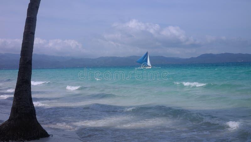 Le bord de la mer de Boracay photos stock