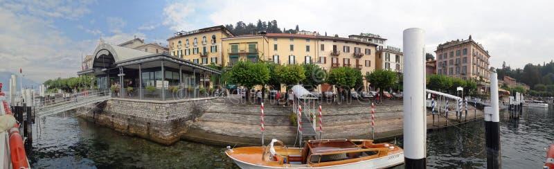 Le bord de mer et l'esplanade de Bellagio images libres de droits
