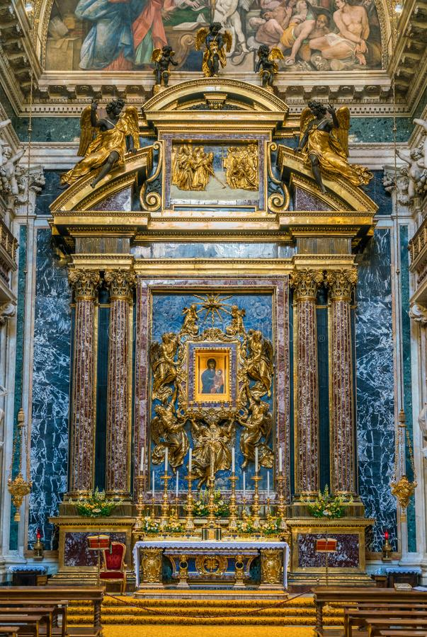 Le Borghese Paolina Chapel dans la basilique de Santa Maria Maggiore à Rome, Italie photo libre de droits