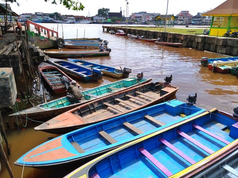 Le Bornéo en aval images libres de droits
