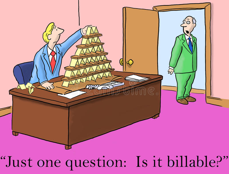 Le bossage pose juste une question, est lui facturable illustration stock