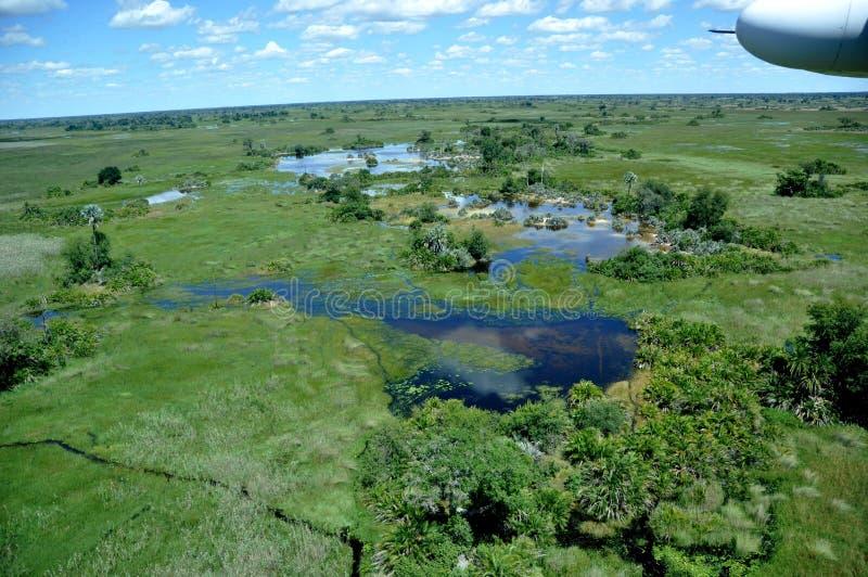 Le Botswana : Les plus grandes inondations depuis 46 ans a frappé le delta d'Okavango dans le désert de Kalahari photos stock