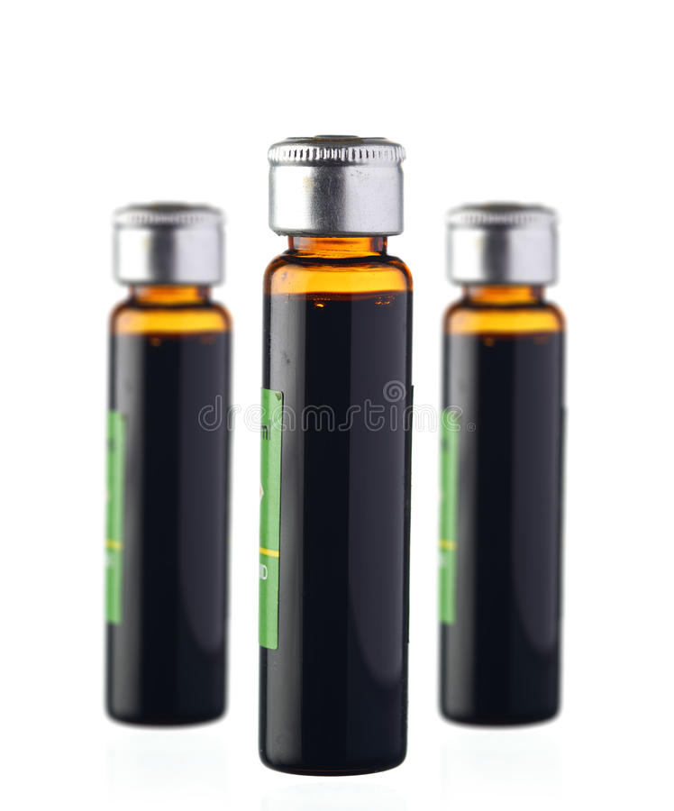 Le bottiglie isoalted fotografie stock