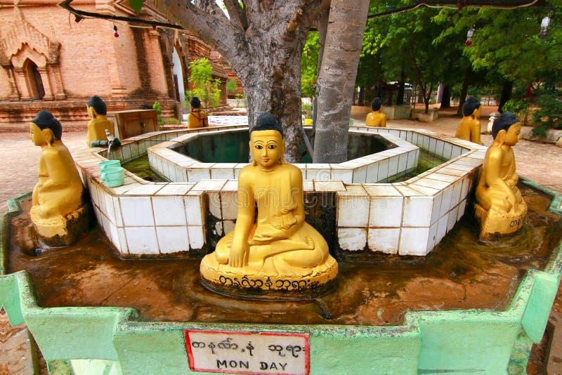 Le Bouddha dans myanmar bagan images libres de droits
