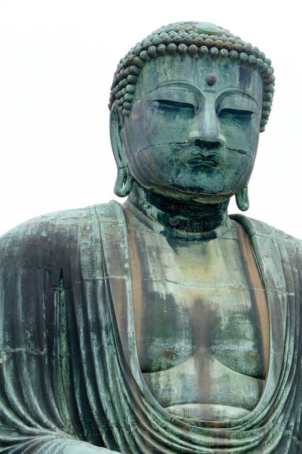 Le Bouddha grand de Kamakura images libres de droits
