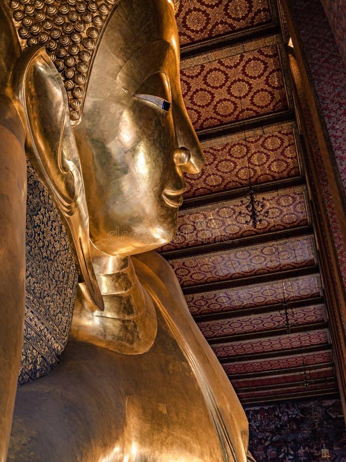 Le Bouddha ?tendu de Wat Pho image libre de droits