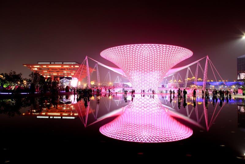 Le boulevard d'expo à l'expo du monde à Changhaï image libre de droits